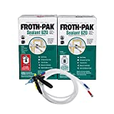 Froth-Pak 620 Spray Foam Sealant Kit, 15 ft Hose. Improved Low GWP Formula. Seals Cavities, Penetrations and Gaps Up to 4' Wide. Yields Up to 620 Board ft. Two Component, Polyurethane, Closed Cell