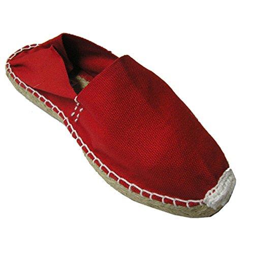 Alpargatas esparto piatta Made in Spain rosso taille 44