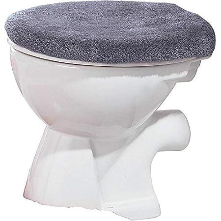 Universelle Passform Fablcrew WC-Sitzbezug warm K/ürbis-Stil Schutz f/ür WC-Sitz WC-Bezug 30 cm Orange Pl/üsch