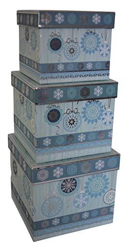 0 41441 Weihnachtsgeschenkkarton - 3 tlg, Würfel