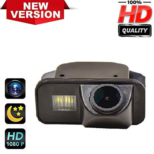 170° HD Kamera 1280x720p Wasserdicht Nachtsicht Kennzeichenleuchte-Rückfahrkamera Distanzlinien Umschaltbar Einparkhilfe für Toyota Corolla Auris Avensis T25 T27