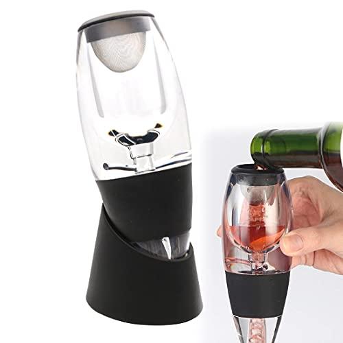 Aireador de vino, aireador de vino de ajuste rápido, aireador de vino vertedor con filtros Speedy Wine Mejora el sabor y suaviza el sabor original del vino de manera eficiente