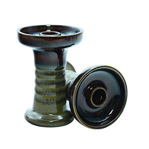 Afoosoo Shisha Bowl Ton Phunnel Shisha Bowl mit Glasur Perfekte Arbeit mit Wärmemanagementsystem und Folien Konische Öl Gute Versiegelung Einfach (BOWL1)