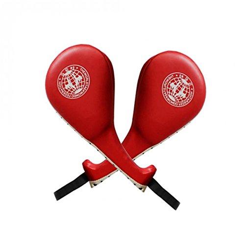 Yosoo EIN Paar Taekwondo Kick Target Pad, langlebig TAE Kwon Karate Kickboxen Kicking Pad Praxis Kick Target Training, rot