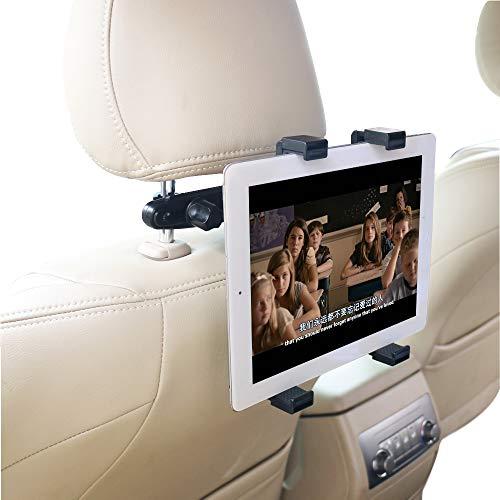 "OHLPRO Tablet Car Headrest Mount Universal Tablet Holder Car Backseat Seat Mount 360° Rotating Adjustable for iPad iPad Air iPad Mini, Samsung Galaxy All 7""- 13"" Tablet"
