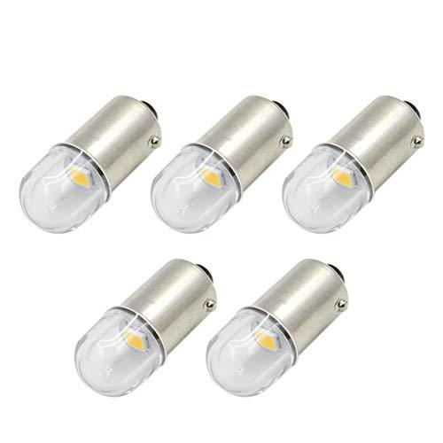 Ruiandsion 5 bombillas LED BA9S de 12 V BA9 53 57 1895 64111 2835 1SMD LED bombillas para el interior del coche luces de cortesía luces de mapas