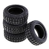 Sharplace 4 Stück Mini Autoreifen Felge Reifen Gummireifen für Spielzeugauto A202-45