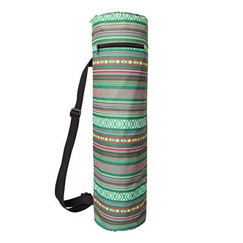 yinbaoer Bolsa De Esterilla De Yoga con Bolsillos De Almacenamiento El ÚLtimo DiseñO Bolsillos De MultifuncióN Bolsas De Yoga De Lona para Mujeres Hombres Green,-