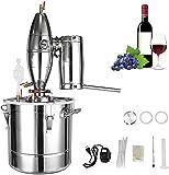 DCHOUSE Destilador de alcohol, alta capacidad, acero inoxidable 304, con termómetro, kit de destilador Moonshine para hacer whisky, brandy