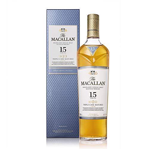 Macallan Triple Cask 15 Años Single Malt Whisky Escoces, 40% - 700 ml