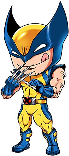 Okiwoki T-Shirt Noir Wolverine parodique Logan aka Wolverine : des Griffes Bien acérées. (Parodie Wolverine)