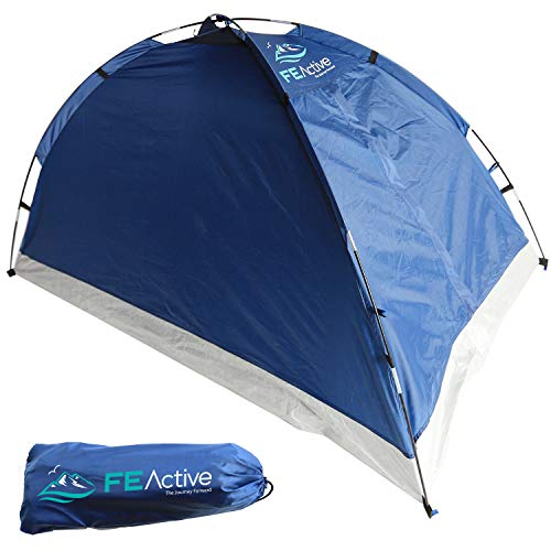 FE Active - 1 to 2 Person Tent with Screened Entrance and Easy Quick Setup That is Water Resistant for Outdoors, Camping, Backpacking, Hiking, Trekking | Designed in California, USA