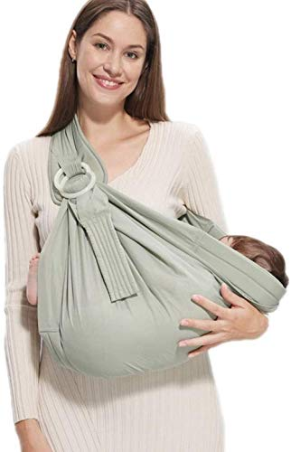 Porte-bébé HZYD -Baby, 5-en-1 Anneau Porteur, Postpartum Ceinture, Couverture d'allaitement, Léger bébé Wrap (Couleur: Rose) (Couleur: Vert) (Couleur: Gris), Couleur: Rose (Color : Green)