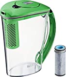 brita water filter green - Brita Stream Filter-As-You-Pour Rapids Water Pitcher, 10 cup, Island Green