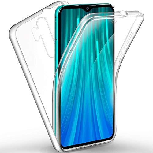 COPHONE - Funda para Xiaomi Redmi Note 8 Pro 100%Transparente 360 Grados Protección Completa Delantera Suave de silicona+ Trasera rígida. Funda táctil 360 Grados antigolpes para Redmi Note 8 PRo