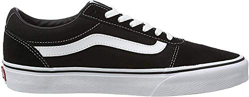 Vans Ward Canvas, Zapatillas Hombre, Negro ((Suede/Canvas) Black/White C4R), 44.5 EU