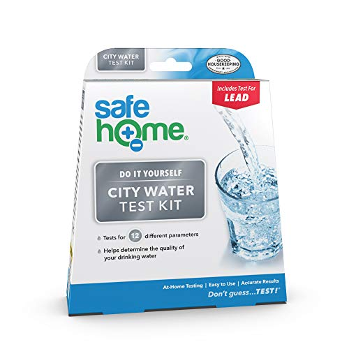 Safe Home CITY WATER Test Kit – DIY Testing for 12 Different Parameters in a City Water Supply – Lead, Copper, Iron, Zinc, Nitrate, pH, Hardness & More.