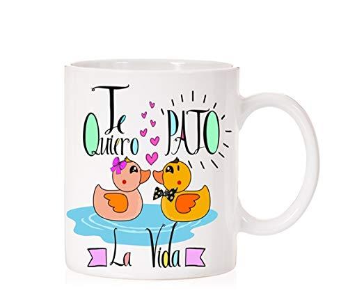 MardeTé Taza Te Quiero PATÓ la Vida. Taza Muy Divertida de Pato para Enamorados Divertido.