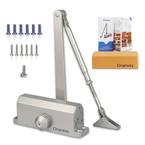 Onarway Türschließer, verstellbar, automatisch, hydraulisch, handelsübliche Aluminiumlegierung, mittelschwere Tür