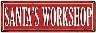 Santa's Workshop Holiday Christmas Metal Sign 6x18 106180065002