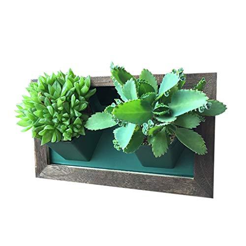 XiuHUa Bloemstandaard Muur Hangende Bloempot Plant fotolijst Ophangen Creatieve Groene Plant Muur Bloemstandaard, 28x7.5x16.5cm Bloemstandaard binnen en buiten