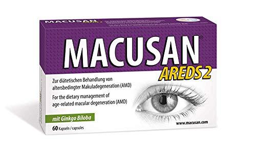 Macusan® AREDS2 Augenvitamin Tabletten Zur Intensivbehandlung Bei AMD Altersbedingter Makuladegeneration Stärkt Die Sehkraft Mit Lutein Zeaxanthin I 60 Kapseln