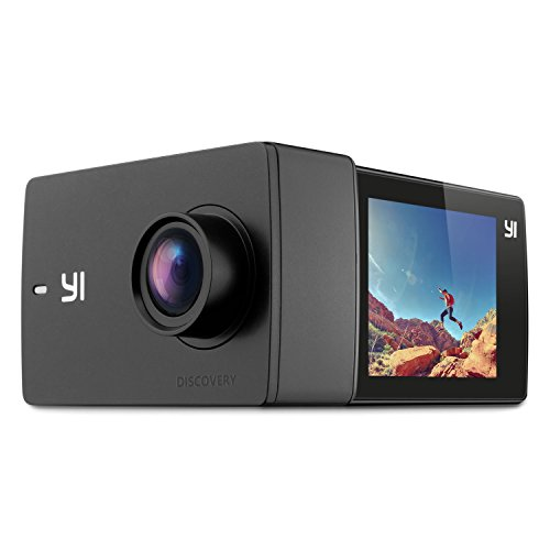 """YI Discovery Action Camera, 4K Sports Cam with 2.0"""" Touchscreen, Built-in Wi-Fi, 150°Wide Angle, Sony Image Sensor for Underwater, Outdoor Activity"""