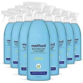 Method Bathroom Cleaner Eucalyptus Mint 28 Ounce 8 pack Packaging May Vary