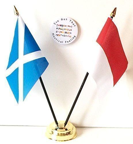 Escocia y Mónaco doble de la amistad de la mesa de Banderas y juego de placa