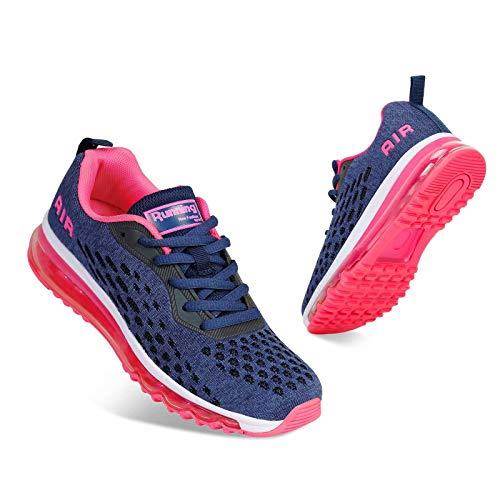 Mabove Laufschuhe Damen Turnschuhe Sportschuhe Straßenlaufschuhe Sneaker Atmungsaktiv Trainer für Running Fitness Gym Outdoor(Pink.R/HK78,40 EU)