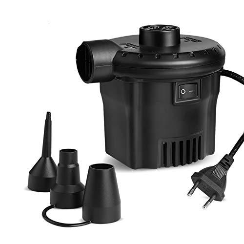 Elektrische Luftpumpe Deeplee Luftpumpe für luftmatratze, 2 in 1 Inflate und Deflate Elektrische Pump mit 3 Luftdüse für aufblasbare Matratze,Sofa,Luftmatratze Pool,Boot,Schwimmring[2020 aktualisiert]
