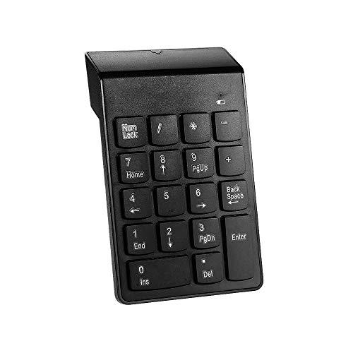 2.4G Numeric Keypad, Entweg 2.4G USB Numeric Keypad Wireless Number Pad 18 Keys Mini Digital Keyboard for iMac/MacBook/MacBook Air/Pro Laptop PC Notebook Desktop