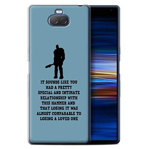 eSwish telefoonhoesje voor Sony Xperia 10 Plus 2019 grappige Korg citaten speciale relatie ontwerp transparante zachte Flexi gel/TPU Cover