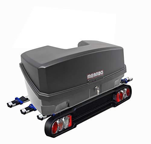 MENABO Heckträger Race III für 3 Räder klappbar mit Quick Stop + Nekkar Gepäckbox 330 Liter MEN197551_237496_b