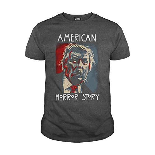 Zoko Apparel Men's American Horror Story Shirt (L, Dark Heather)