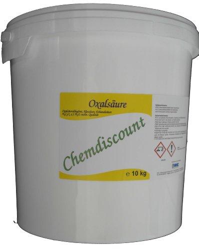 10kg (2x5kg) Oxalsäure Pulver (Kleesalz, Ethandisäure), min 99,6{2f44363c0f5355b74d4af51814b01b9f2861050ed5acca9d574477b327dc0325} z.B. als Rostlöser