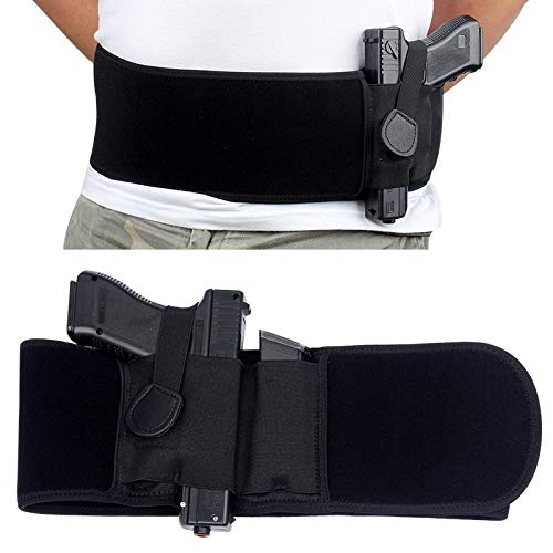 ACEXIER Funda de cinturón táctico , pistoleras de Pistola Militar, cinturón Ancho elástico, Funda de Pistola Oculta portátil para Caza al Aire Libre