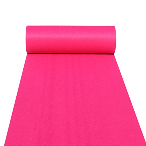 Xi Man Shop Alfombras Alfombra Floor Runner Alfombra Runner para Hall Stair Party Wedding Pasillo de la Alfombra del Pasillo de Las Bodas Rosa Genuino (Color : Pink, Size : 1.2m*20m)