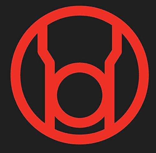 DC Comics RED LANTERN CORP 4.5' Logo Decal Sticker for Laptop Car Window Tablet Skateboard