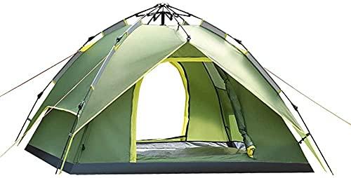 JSL Tienda ligera impermeable hidráulica portátil Pop Up Tienda de playa de doble capa impermeable anti UV con puerta de cremallera para la familia, camping, playa