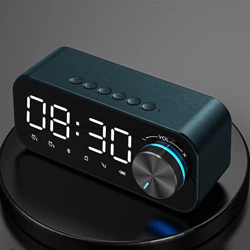 CoCaLay Sistema estéreo de Graves con Altavoz inalámbrico Bluetooth, Sistemas de Sonido Envolvente con Altavoz de estantería, micrófono Incorporado para Llamadas(Blue)
