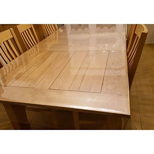 Nappe Transparente Ultra Épaisse 140 cm - ART2LATABLE Nappe 0.8mm d'Épaisseur, 1m40 cm de Large Protège Table ou Bureau Transparent 80/100 (Ronde DIAMETRE 140 cm)