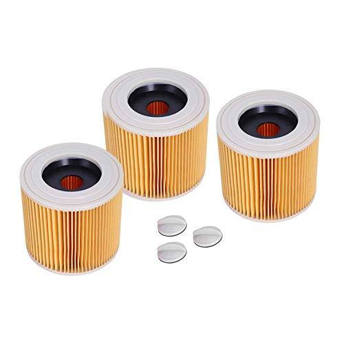 QIBIN Repuesto de filtro de repuesto para aspiradoras Karcher WD2200 WD2210 WD2240 Wet & Dry (color: amarillo) (color: amarillo)