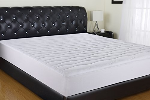 """Allrange 300TC Cool Tencel Clean&Safe Quilted Mattress Pad, Stretch-up-to 22"""", Fitted Tencel Polyester Fill, Silky Cotton Tencel Cover,Oeko-TEX Certified, Full"""