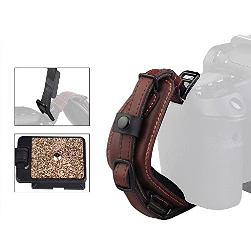 Camera Leather Wrist Hand Strap, LYNCA E6 Adjustable Camera Hand Grip Strap...
