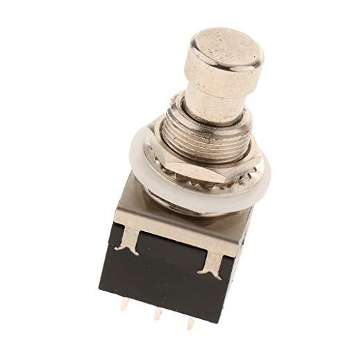 Fußschalter Fusstaster Pedalschalter Trittschalter mit Pedal und Effektbox Verbinden, ca. 38 x 20 x 20 mm - Schwarz