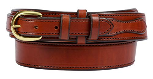 Forest Hill, Ranger Gun Belt, Heavy Duty, 1-1/2' Solid Leather, Amish Made, by Hand in Lancaster, PA … (40, Brown)