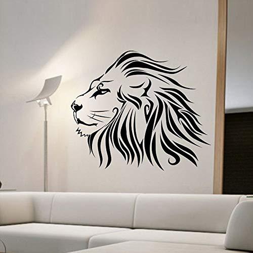 Animal león pegatinas de pared moda animal decoración del hogar sala de estar pegatinas de pared decoración del dormitorio