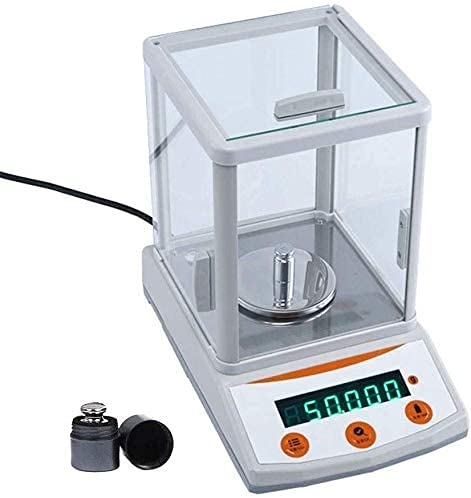 SLZFLSSHPK Kitchen Scales Food scaleElectronic Scale 300g/0.001g high Precision Milligram Jewelry Scale, Precision Analytical Balance Digital Multi-Function(Color:White;Size:300g/0.001g)