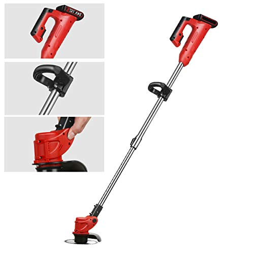 450W Grass Trimmers Cordless Manscaped Lawn Mower Hand Held Grass Including Lithium-Ion and Charger, Grass Cutter for Best Garden Lawn